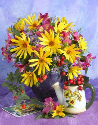 Kit Broderie Diamant - Bouquet de fleurs