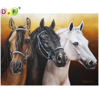 Broderie diamant - Cheval
