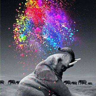 Broderie diamant - Éléphant