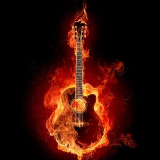 Broderie Diamant 5D - Guitare