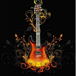 Broderie diamant - Guitare