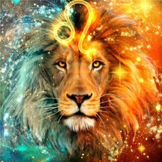 Broderie diamant - Lion