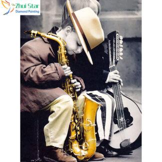 Broderie Diamant 5D - Saxophone