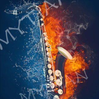 Broderie diamant - Saxophone